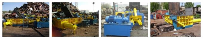 Hydraulic scrap metal balers