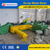 Scrap metal baler diesel drive with hopper