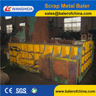 Non ferrous metal baler press