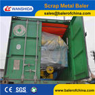 WANSHIDA Scrap metal baling aluminum steel brass compactor press (CE ISO)
