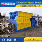 China WANSHIDA Automatic Scrap Shear/Container Shear for propane tanks