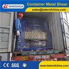 WANSHIDA Horizontal scrap metal BOX shearing machine CUTTING machine EU Quality