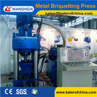 China Wanshida Factory Scrap Aluminum Chips Sawdust Briquetting Press machine On Sale