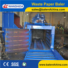 High efficiency full automatic baler for used cardboard&waste paper with conveyor