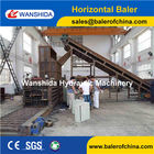 China Hydraulic Baler Press for pet bottles factory