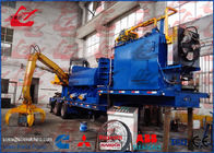 China Mobile Scrap Metal Baler Logger Hydraulic Metal Baling Press Diesel Engine Power Feeding Grab Equipped factory