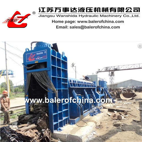 Hydraulic Metal Baling Shear for car bodies & metal scrap