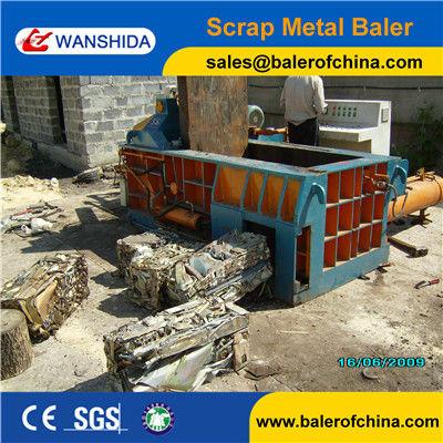 Aluminum scrap metal balers