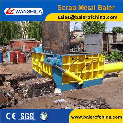 WANSHIDA Scrap metal baling aluminum steel brass compactor press (CE ISO)