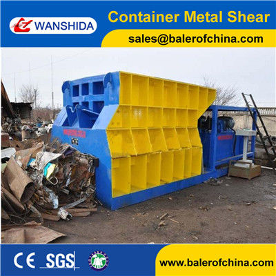 China Wanshida 400ton Heavy Metal Scrap Container Shear for metal recycling yards