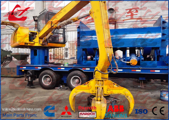 Mobile Car Baler Logger Vehicles Scrap Metal Baler Car Bodies Baling Press Machine For Waste Car Recycling Plant