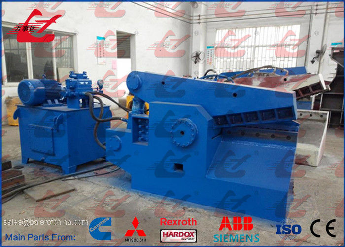 Alligator Metal Shears 200Ton Force 25kW Motor Hydraulic Steel Scrap Shearing Machine