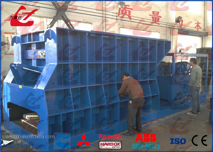 Full Automatic Horizontal Metal Shear For Heavy Metal Scrap Cutting 5000kg/h Diesel Engine or Motor Power