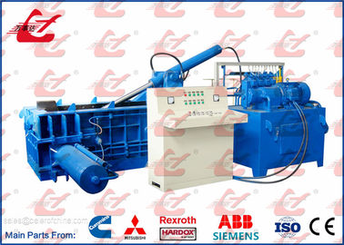 China Automatic Metal Hydraulic Baler Side Push out Scrap Baling Press For Waste Aluminum Profile Window factory