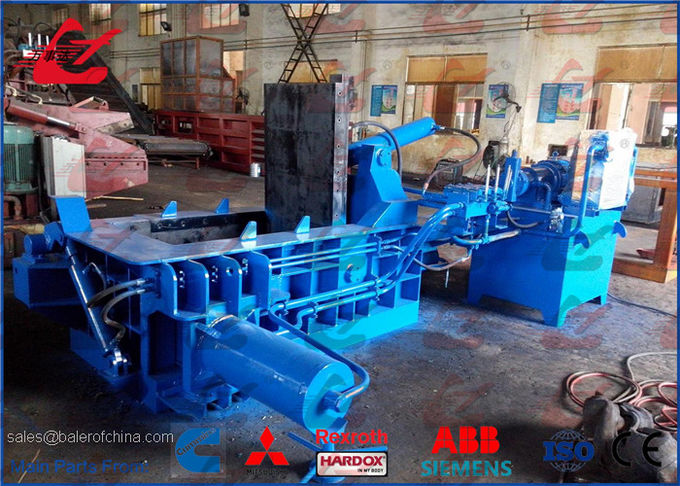 Aluminum Profiles Light Metal Baler Press High Capacity Y83-125 Model 18.5kW For Metal Recycling Plant